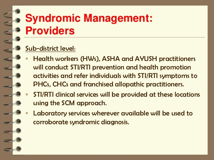 Syndromic management of sexually transmitted infections ppt presentation